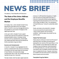News Brief – The State of the Union Address and the Employee Benefits Market